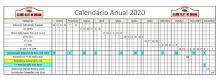 Calendário das provas para o ano de 2020