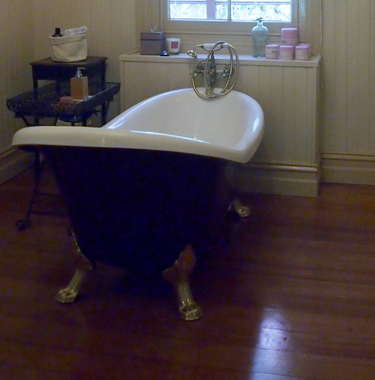 Beautiful South Bathroom Makeover Painting A Clawfoot Bath