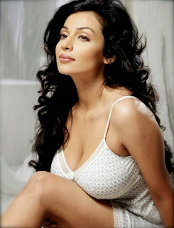 Asha Saini in White Deep Neck Gown Spicy Stills