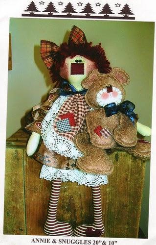 Moldes ursinho e boneca de pano