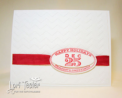 Simple Vintage Christmas-designed by Lori Tecler-Inking Aloud-stamps and dies from The Cat's Pajamas