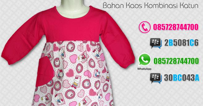 Baju Gamis Anak Perempuan Balita Murah Online Motif Hello