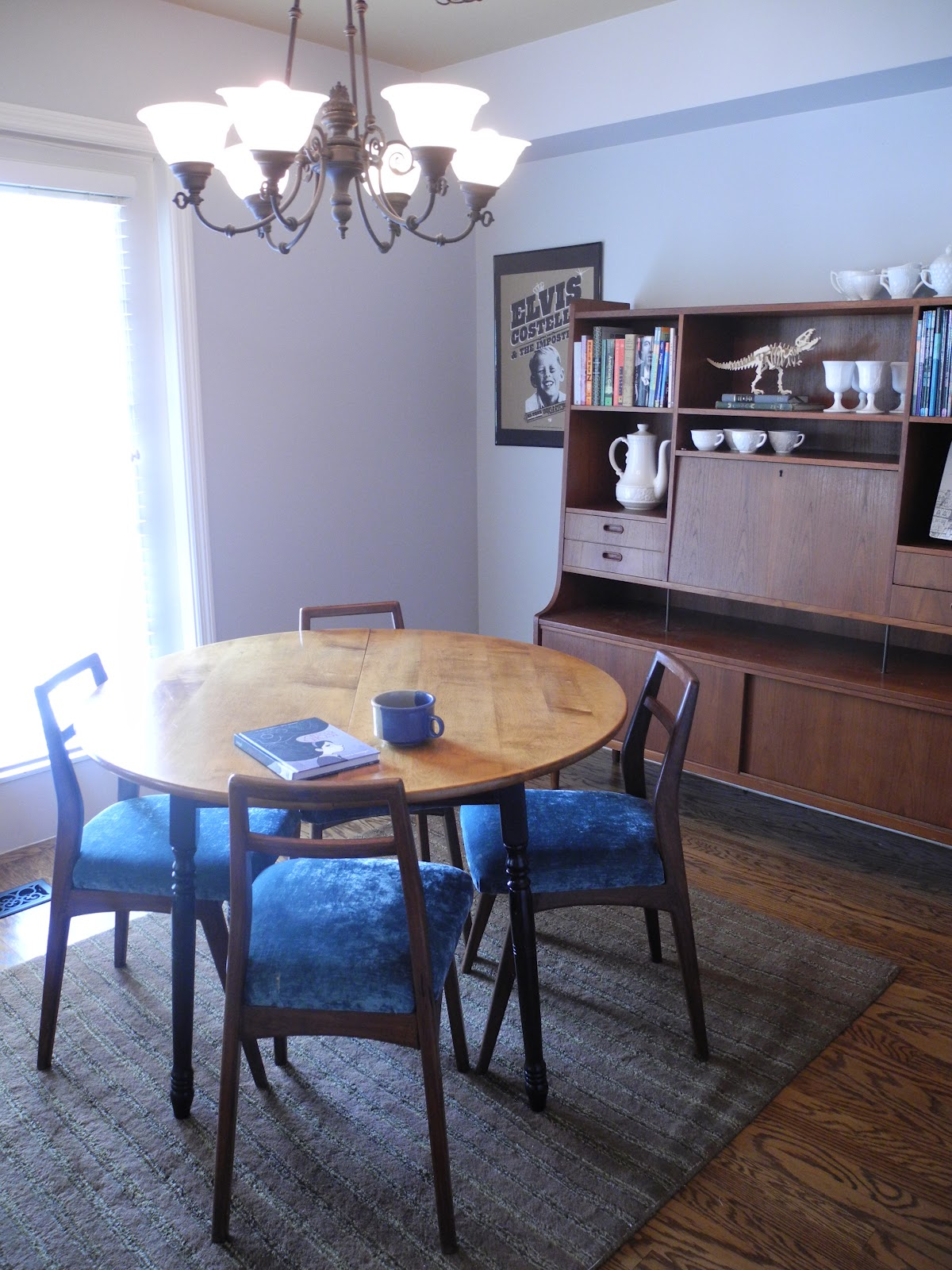 New Gray Dining Room with Behr Silver Screen Paint