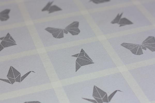 Ro Guaraz · bolsa origami · 12 · tela estampada