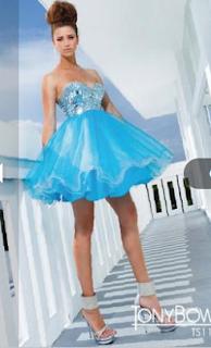 Vestidos Cortos de Quinceañera Tony Bowls 2012
