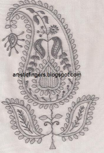 Artisticfingers lesson chikan embroidery sal