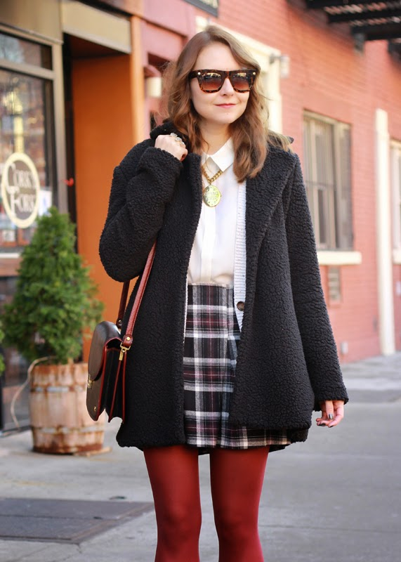 The Steele Maiden: Plaid miniskirt and Sole Society Booties