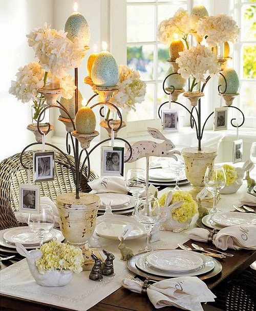 easter dining table decoration for holiday