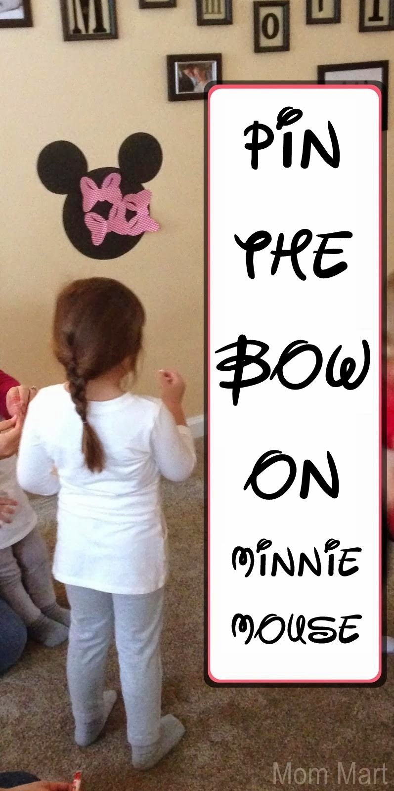 Minnie Mouse Themed Birthday Party Games - Pin the Bow on Minnie