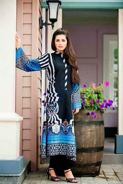 Latest Long Shirts Fashion Designing Winter Dresses 2015