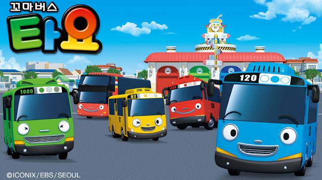 Personajes de la serie coreana sobre autobuses Tayo