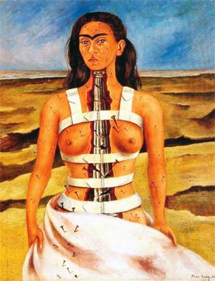 Frida Kahlo autorretrato Coluna Rota