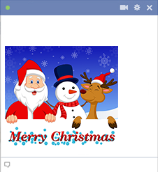 Merry Christmas Icons for Facebook