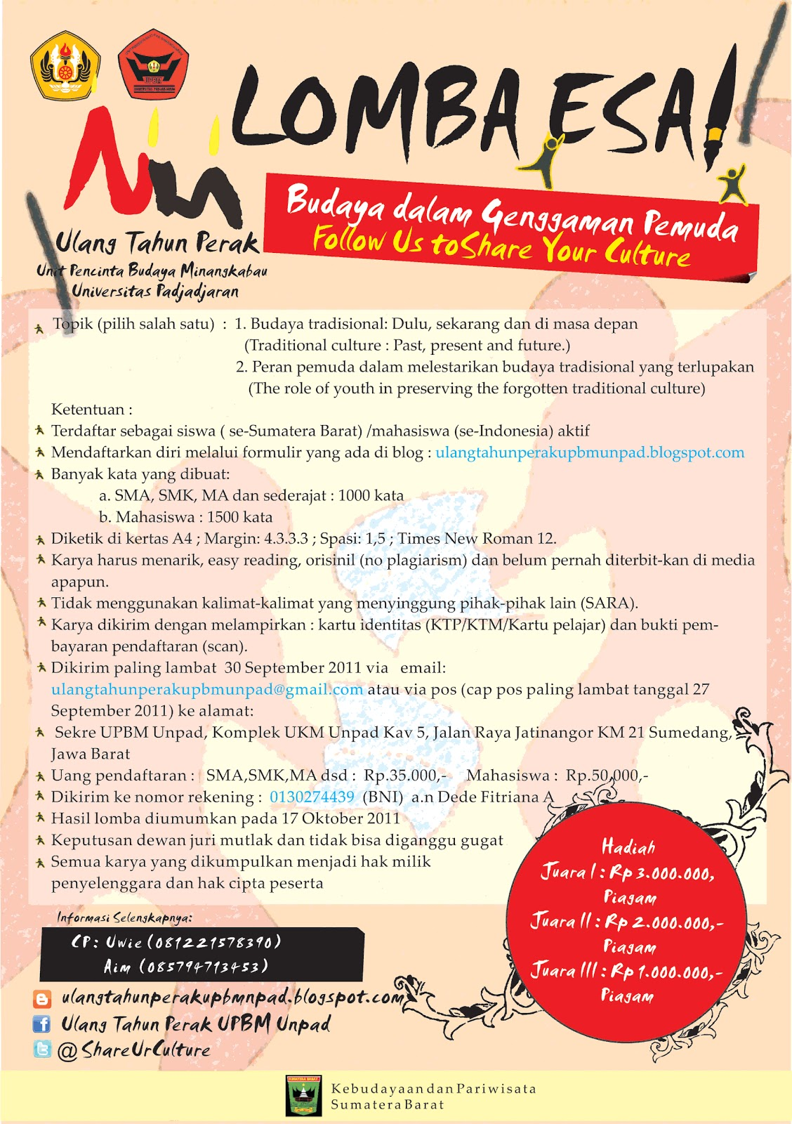 lomba essay 2009 The rookies was established in 2009 with the goal of info lomba mei 2018 | lomba menulis essay berikut ini diselenggarakan oleh kppi dan bakopaman pada bulan mei.