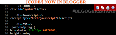 Shortcode For Blogger Syntax Highlighter In Blogger