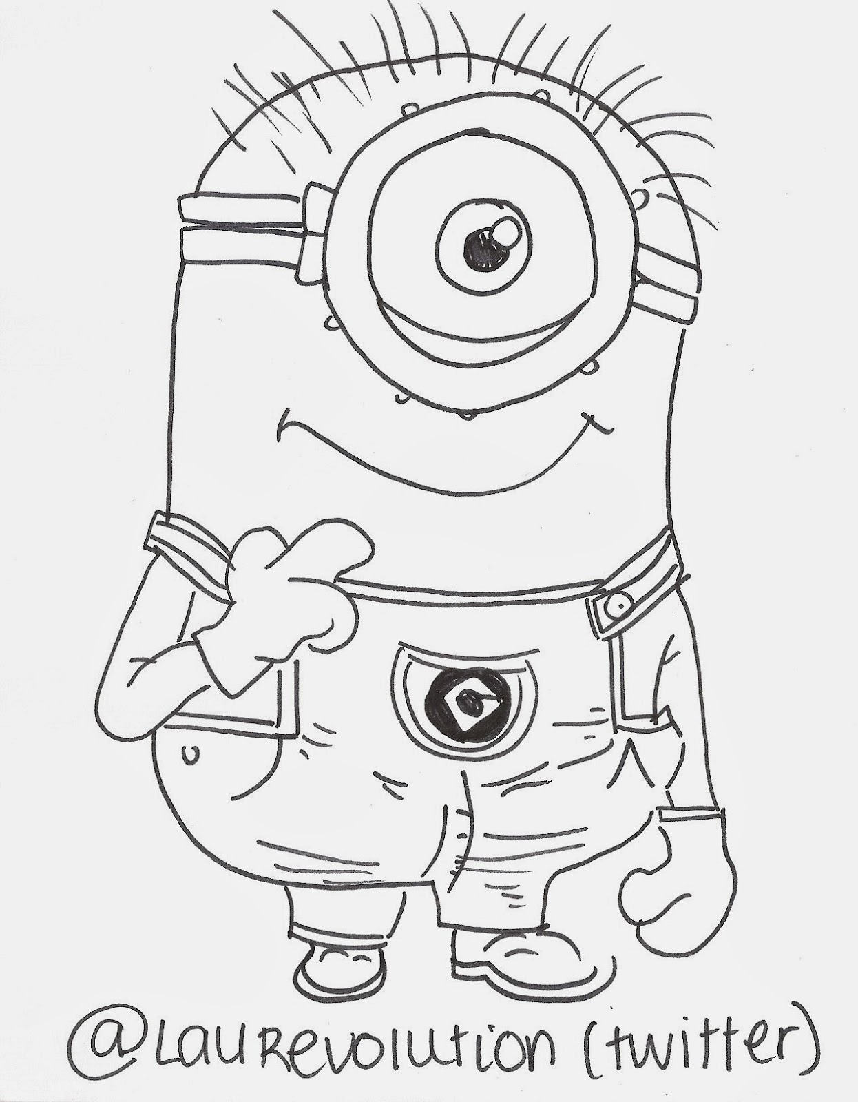 Displaying 20> Images For - How To Draw A Minion Step By Step...