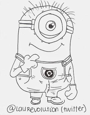 How to Draw Minion Drawing
