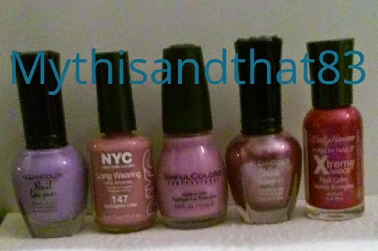Purple polish collection
