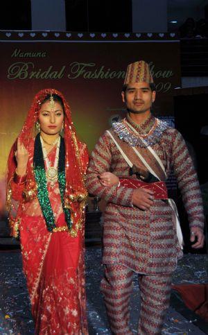 Nepali girls fashion dresses south asia nepal fashion for Wedding dress nepali culture