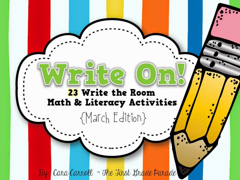 March Write the Room (Math & Literacy)