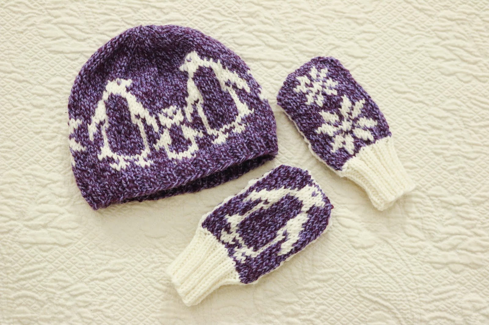 ChemKnits: The Snowy Penguin Set - Toddler Vest, Hat and Mitts Knitting Patterns