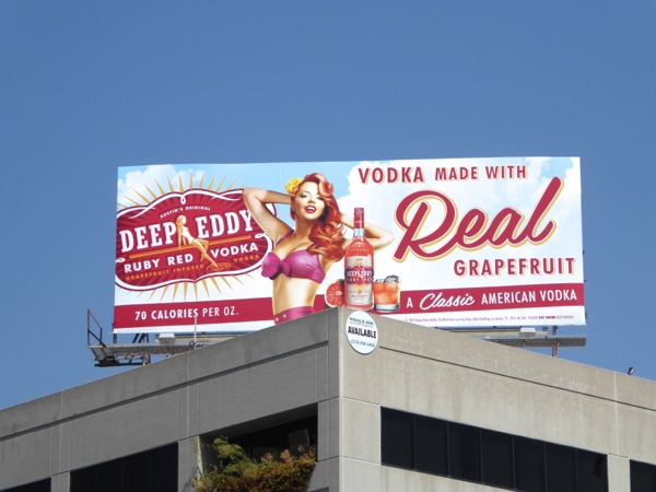 Deep Eddy Grapefruit Vodka billboard