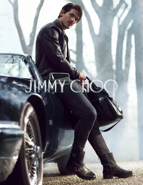Australian model Jarrod Scott in Jimmy Choo campaign