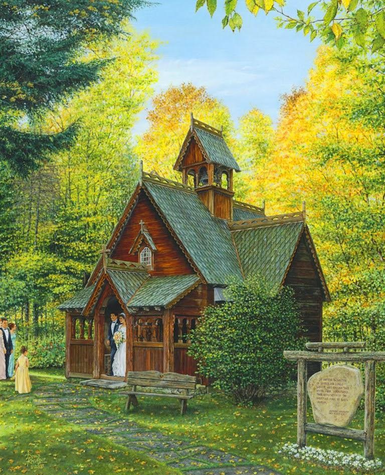 Pintura moderna y fotograf a art stica cuadros de - Paisajes de casas de campo ...