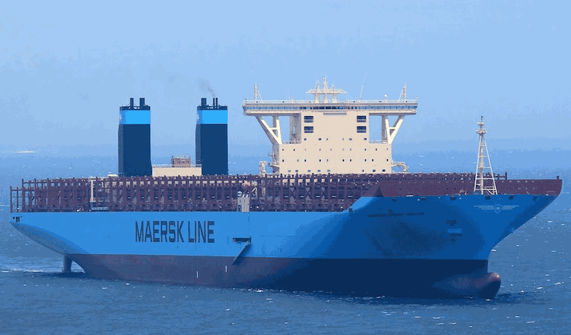 maersk line triple e container shipping vessel