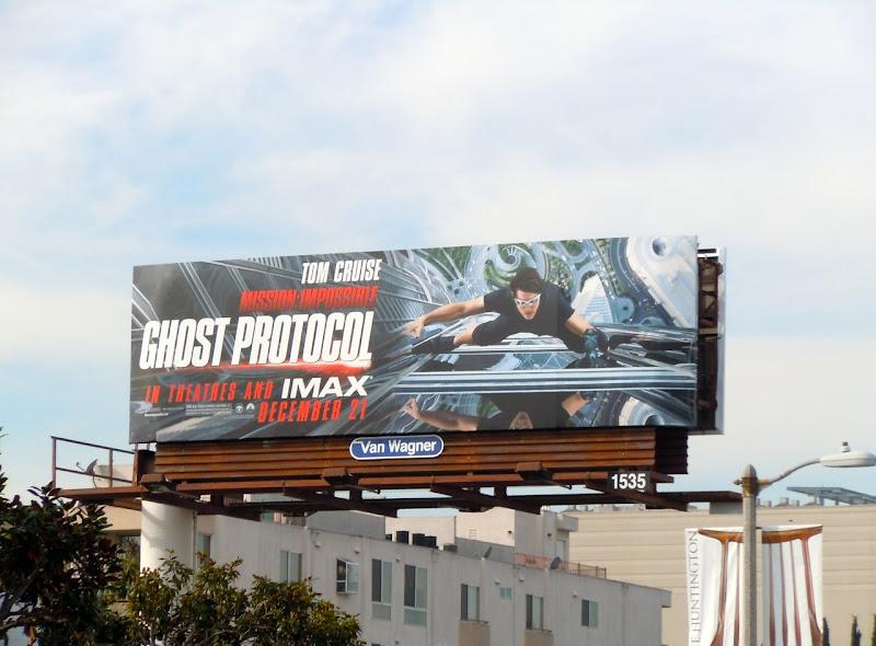 Ghost Protocol movie billboard
