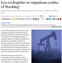 LOS ECOLOGISTAS SE ORGANIZAN CONTRA EL FRACKING.