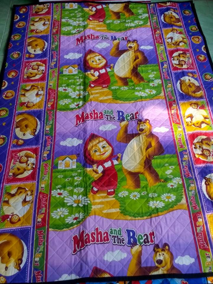 tikar dakron motif masha n the bear