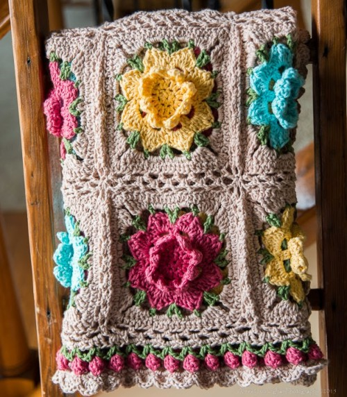Beautiful Skills Crochet Knitting Quilting Rebekahs Flower