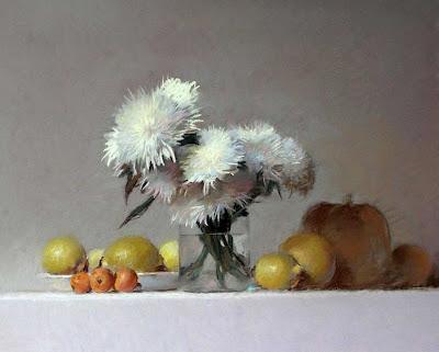 bodegones-flores-frutas-y-vasijas