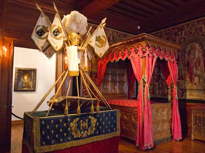 Cuna de Enrique IV en el Chateau (castillo) de Pau