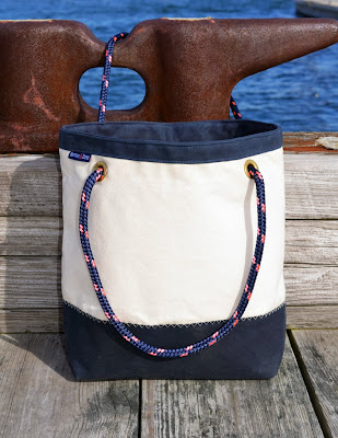 Lemon & Line Boat Bag