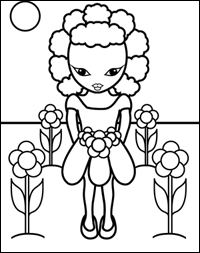 Beads braids and beyond miss zee coloring book project for Miss bindergarten coloring pages