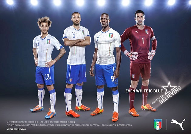 Jersey Timnas Italia Away World Cup 2014