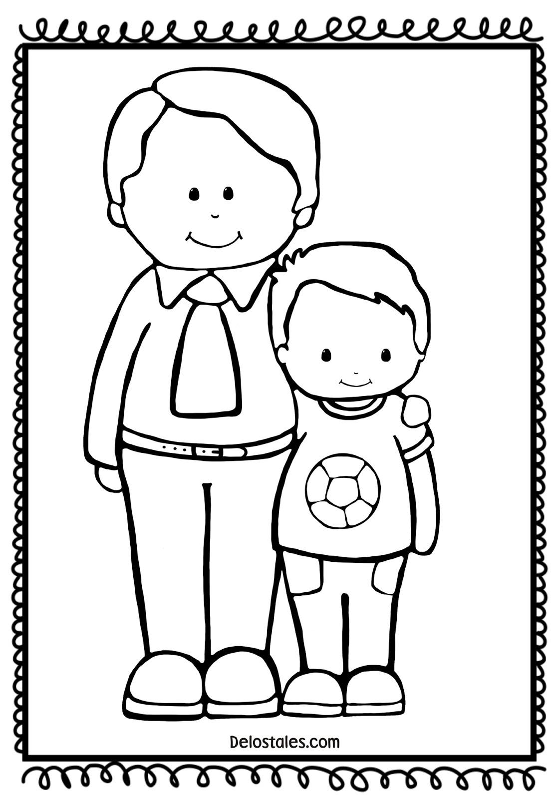 Fantástico Dia De Los Padres Para Colorear Para Niños Patrón ...