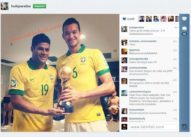 Foto De Hulk En Instagram Con La Copa Y Diego Cavalieri Pa Os