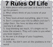 Seven Rules of Life. Posted by Tauheed Ahmad Nawaz at 20:26