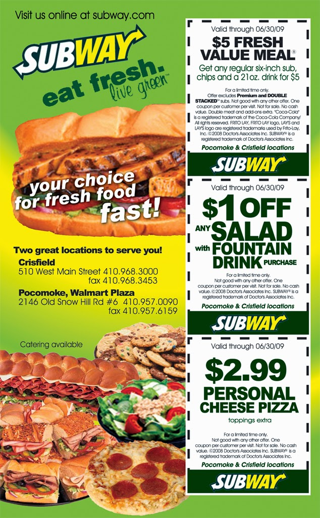 image about Printable Subway Coupons referred to as subway coupon december 2015