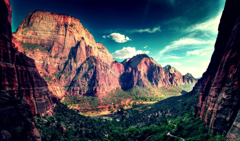 Download 1600x900 Zion National Park Wallpaper