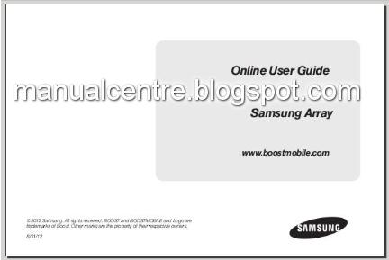 Samsung Array Manual Cover