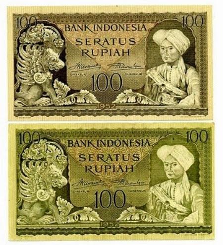 Uang Kertas 100 Rupiah 1952