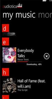 Windows phone app musica