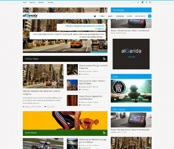 Algarida - Responsive WordPress News and Magazine Theme