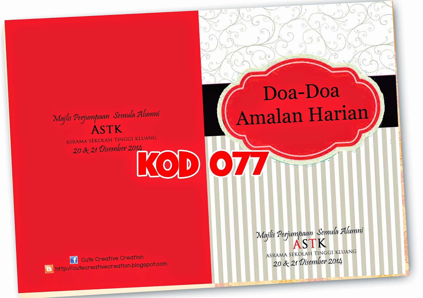 personalized buku doa