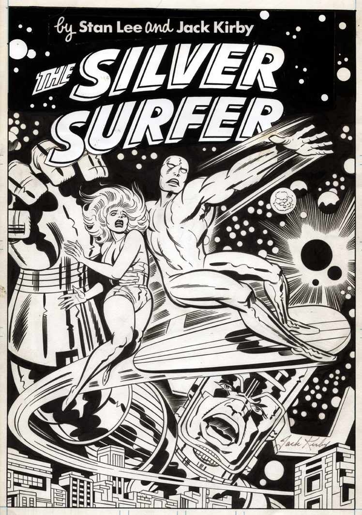 capns comics some silver surfer by jack kirby