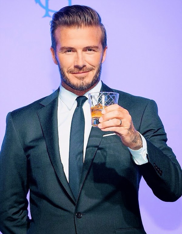 David Beckham wears Ralph Lauren Black Label suit at press conference for Haig Club Whiskey in Seoul South Korea 5th November 2014